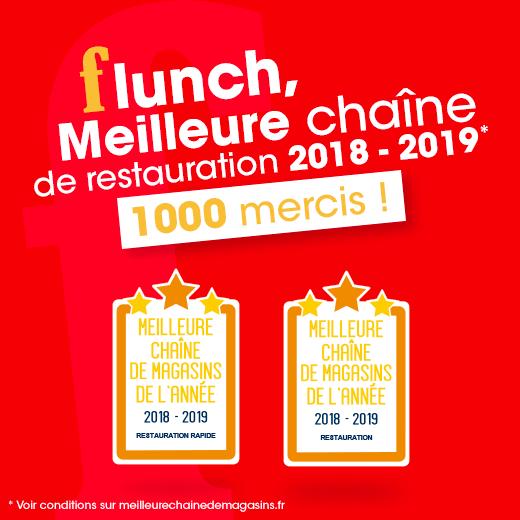Flunch meilleure chaîne de restauration 2019