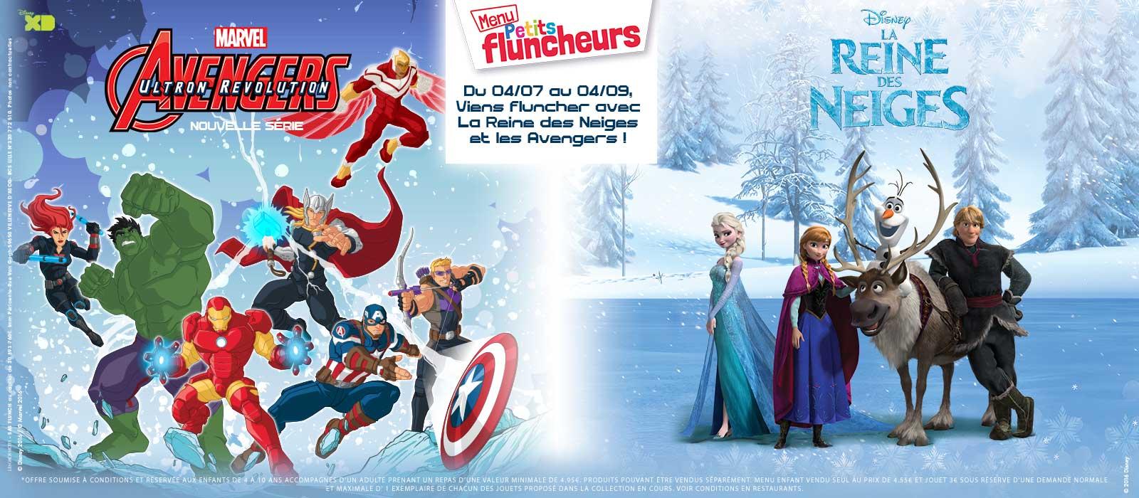 Avengers et La Reine des Neiges