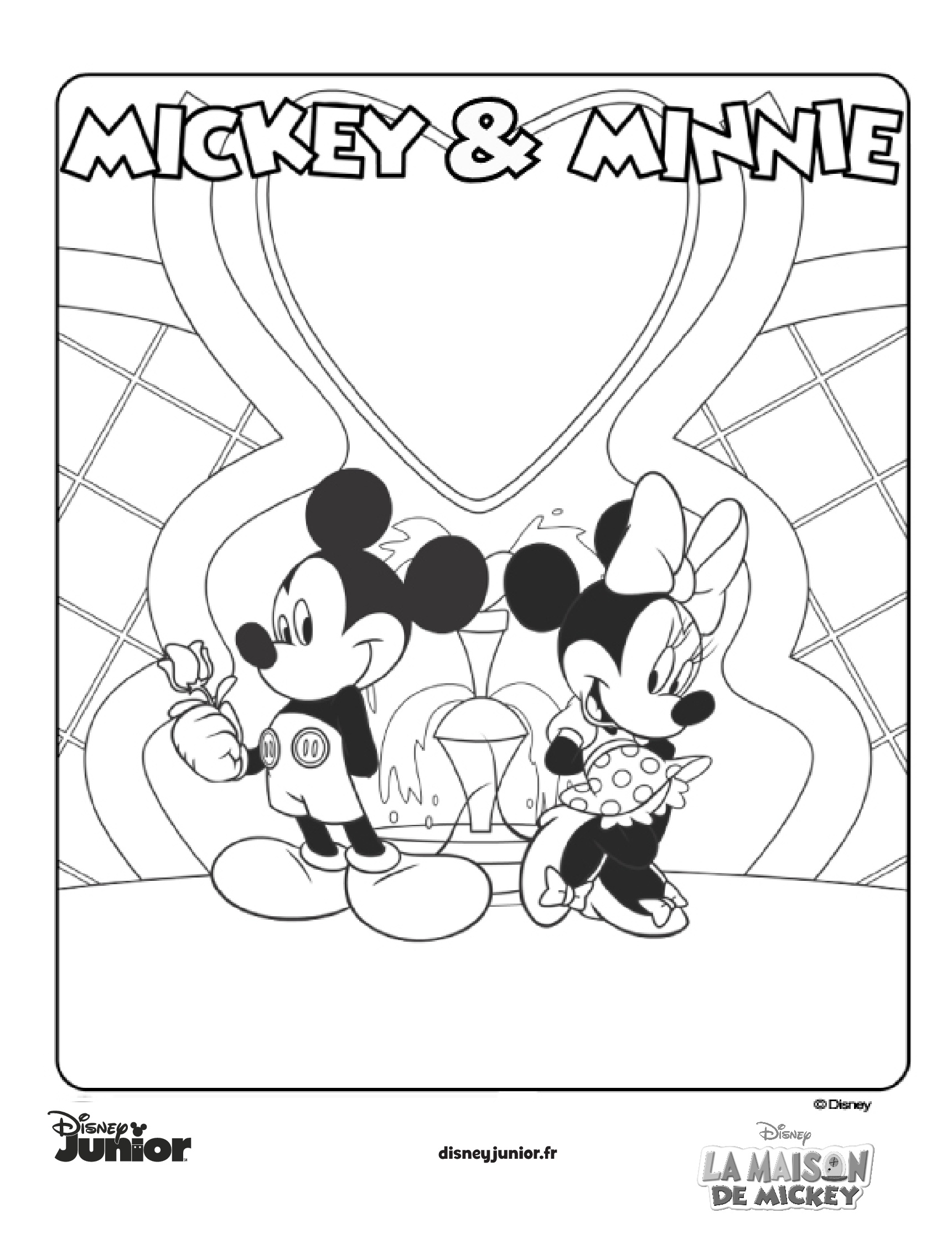 coloriages mickey et minnie