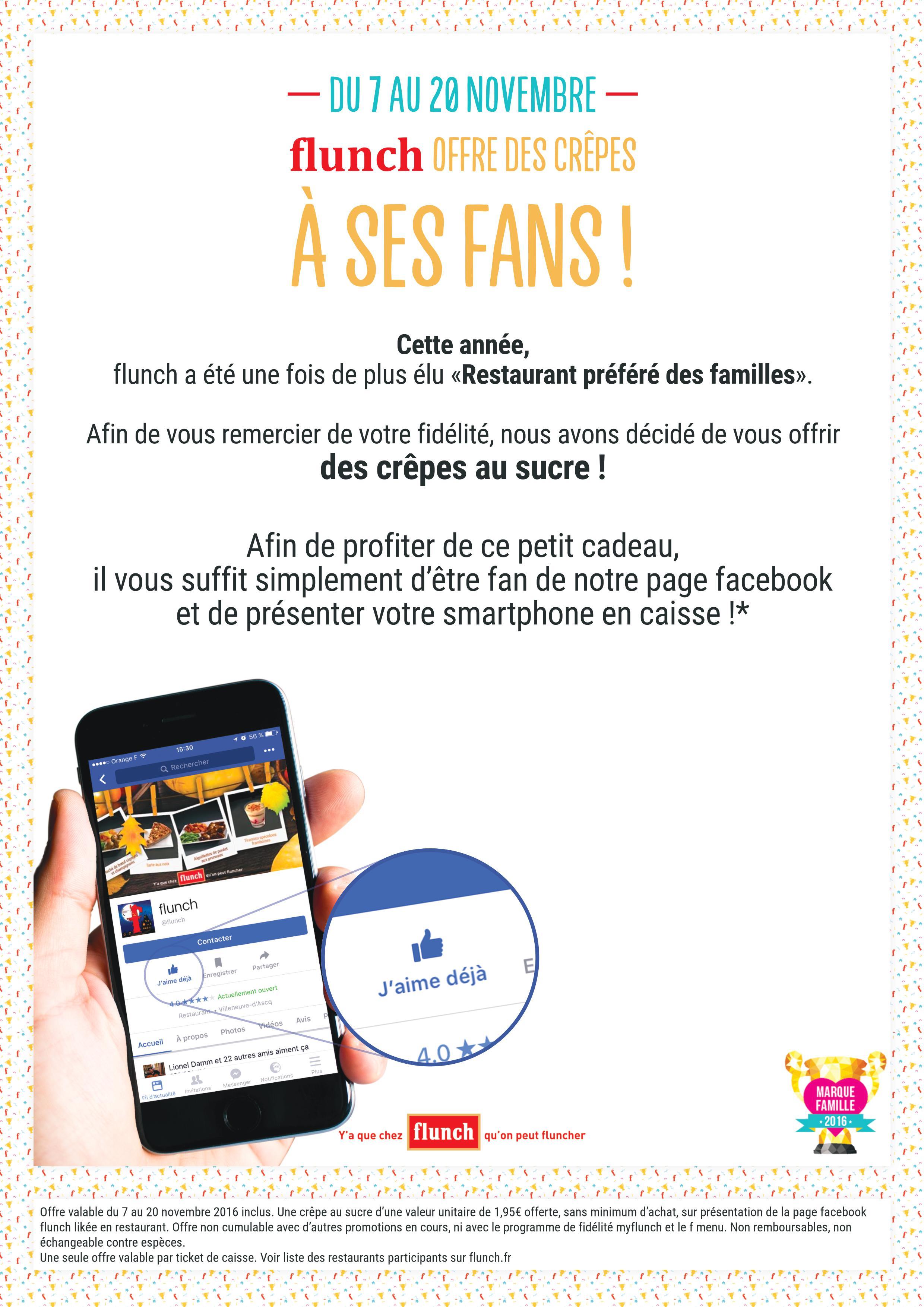 crepe offerte fans facebook
