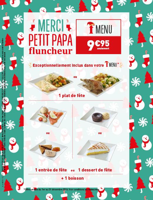 F menu de Noel