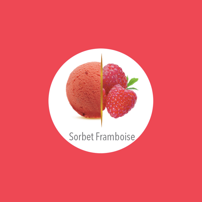 flunch glace sorbet framboise carte d'or