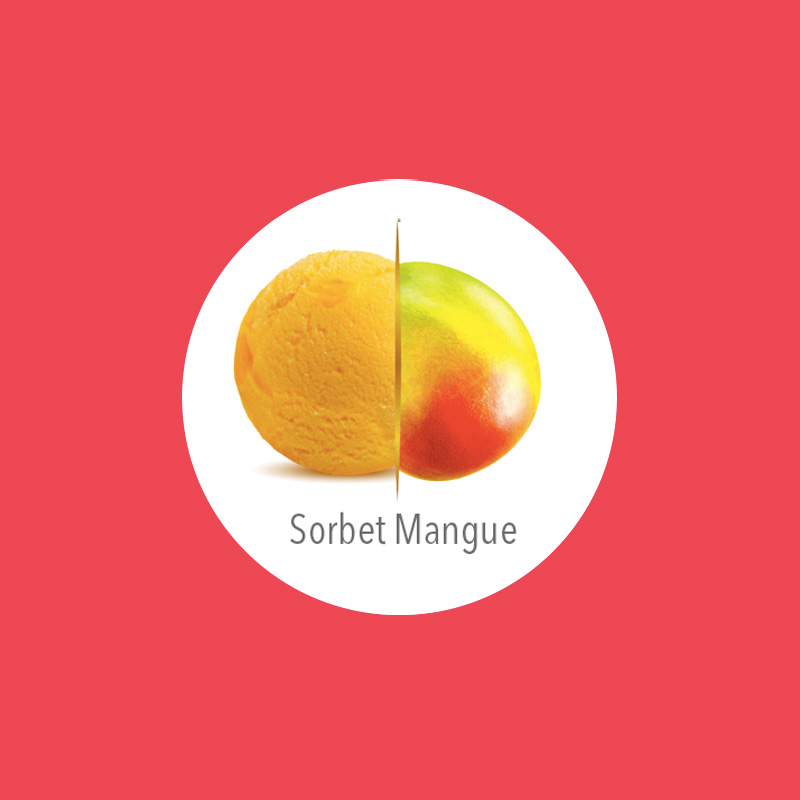 flunch glace sorbet mangue carte d'or