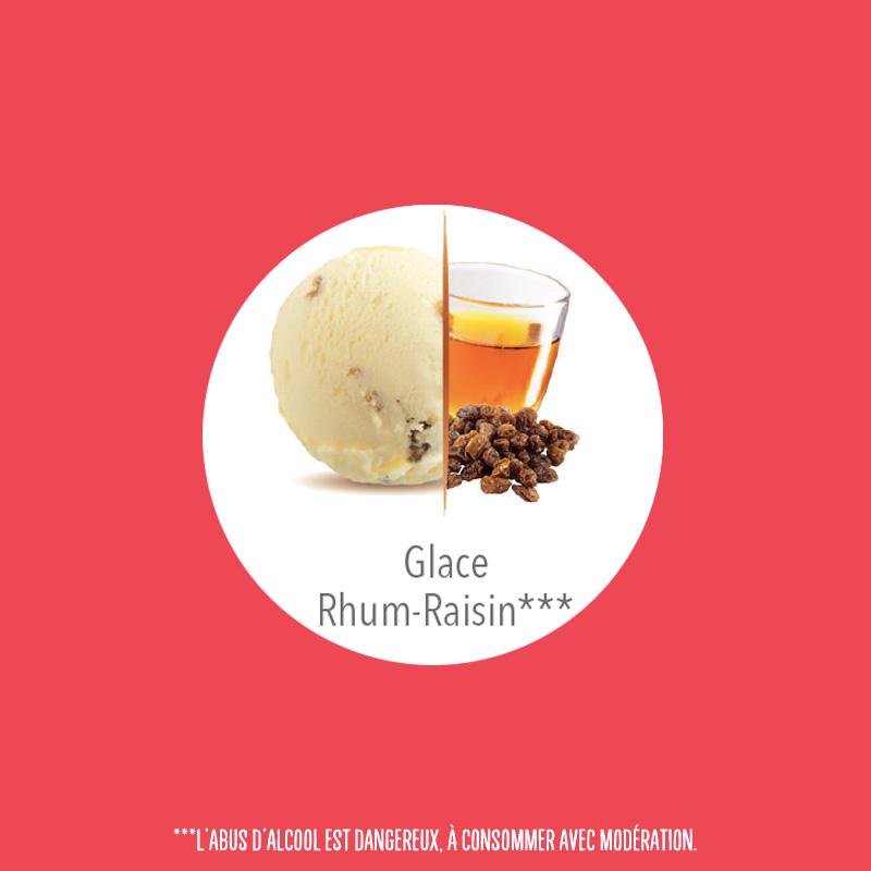 flunch glace rhum raisins carte d'or