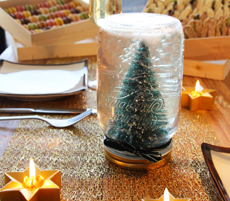 diy boule à neige noel flunch