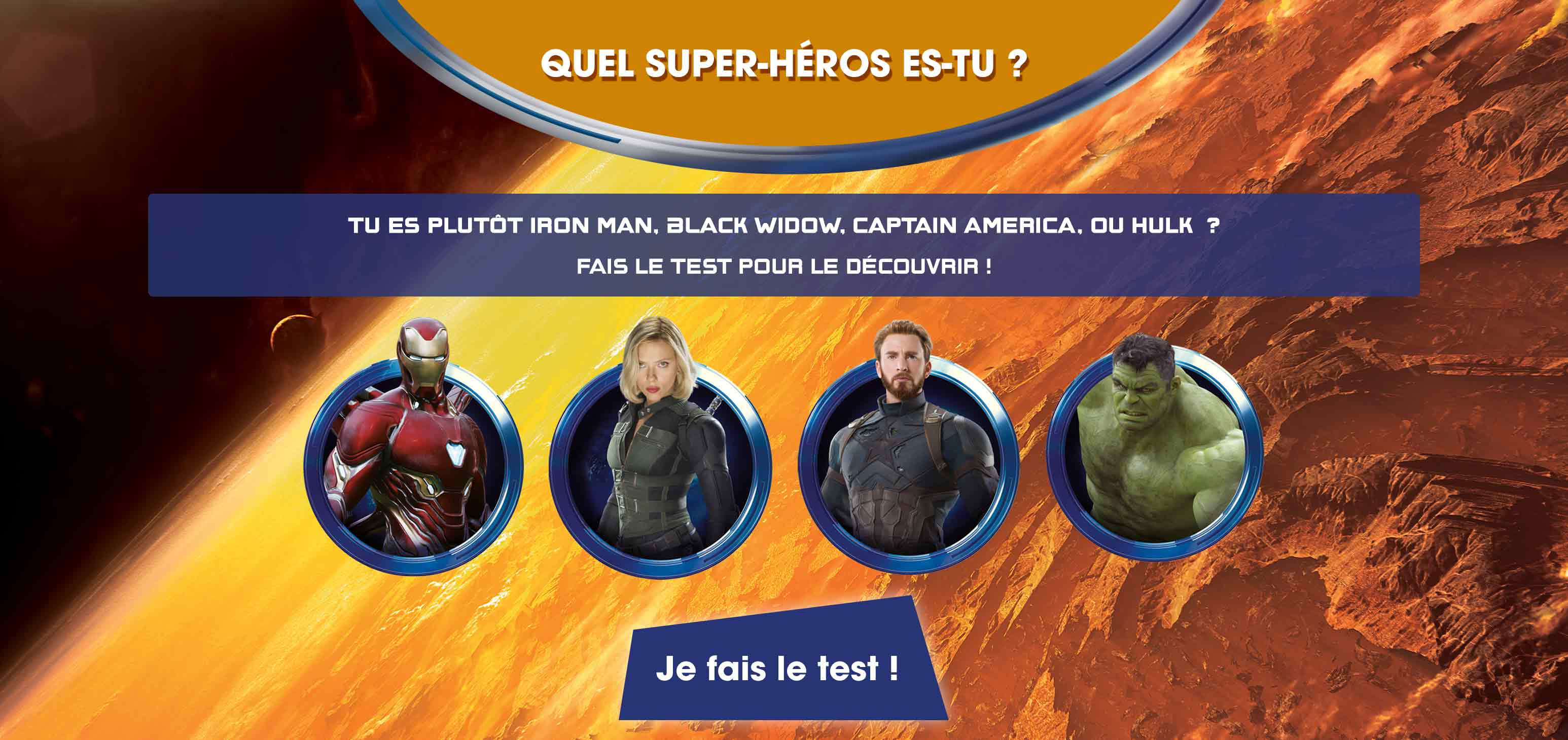 test personnage avengers flunch