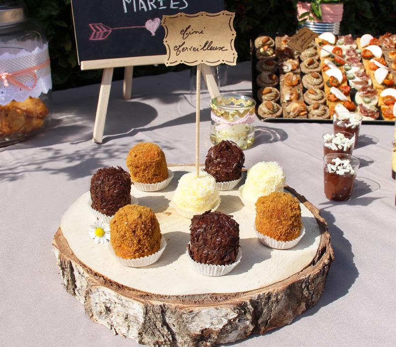 etiquette flunch traiteur buffet mariage