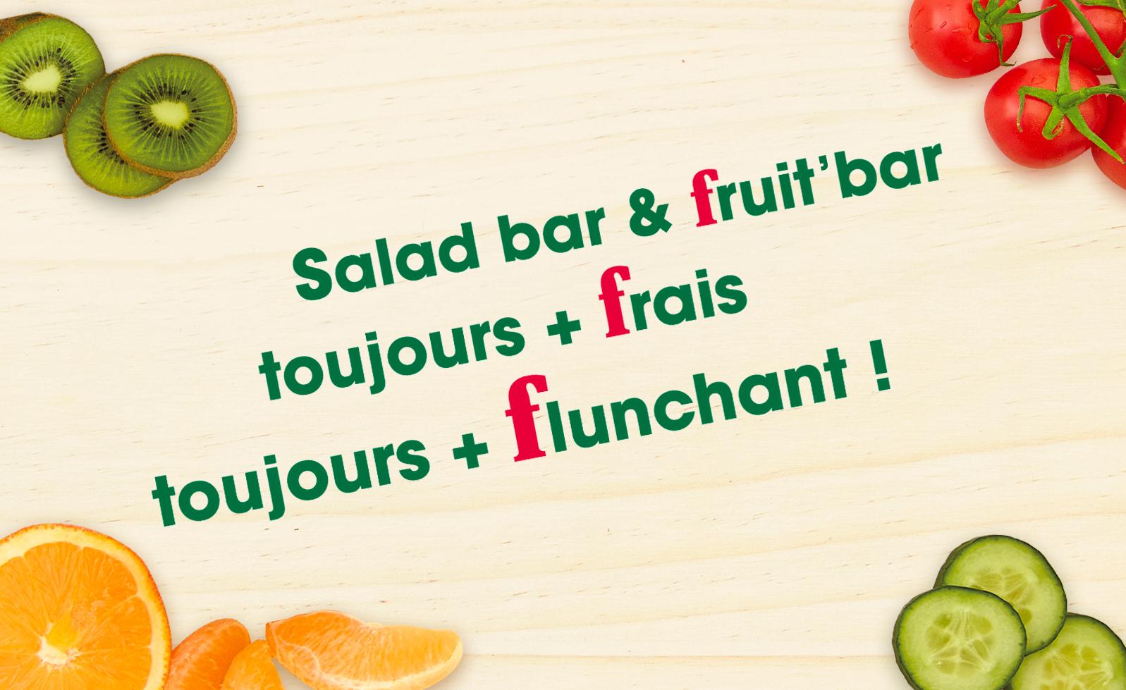 salad bar fruit bar flunch