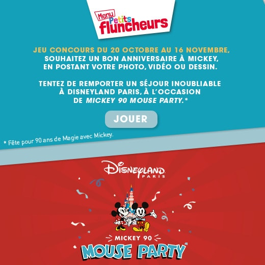 Mickey Mouse Party Flunch