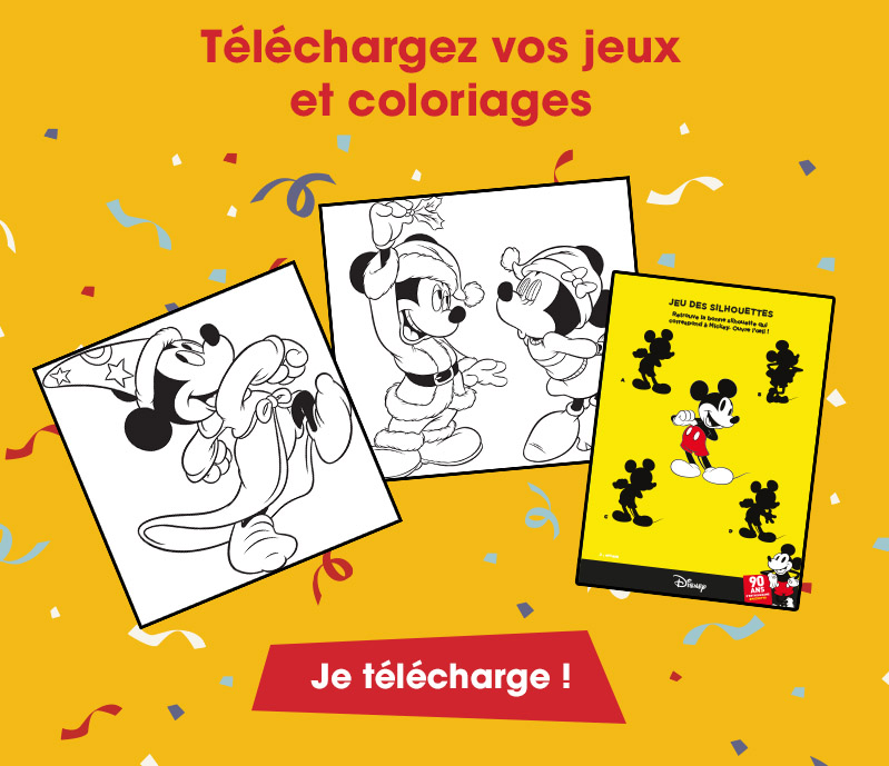 telecharger jeux mickey 90 ans Disneyland coloriages