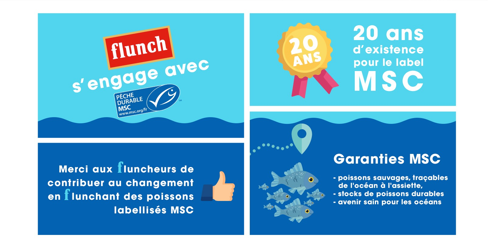 flunch s'engage avec msc