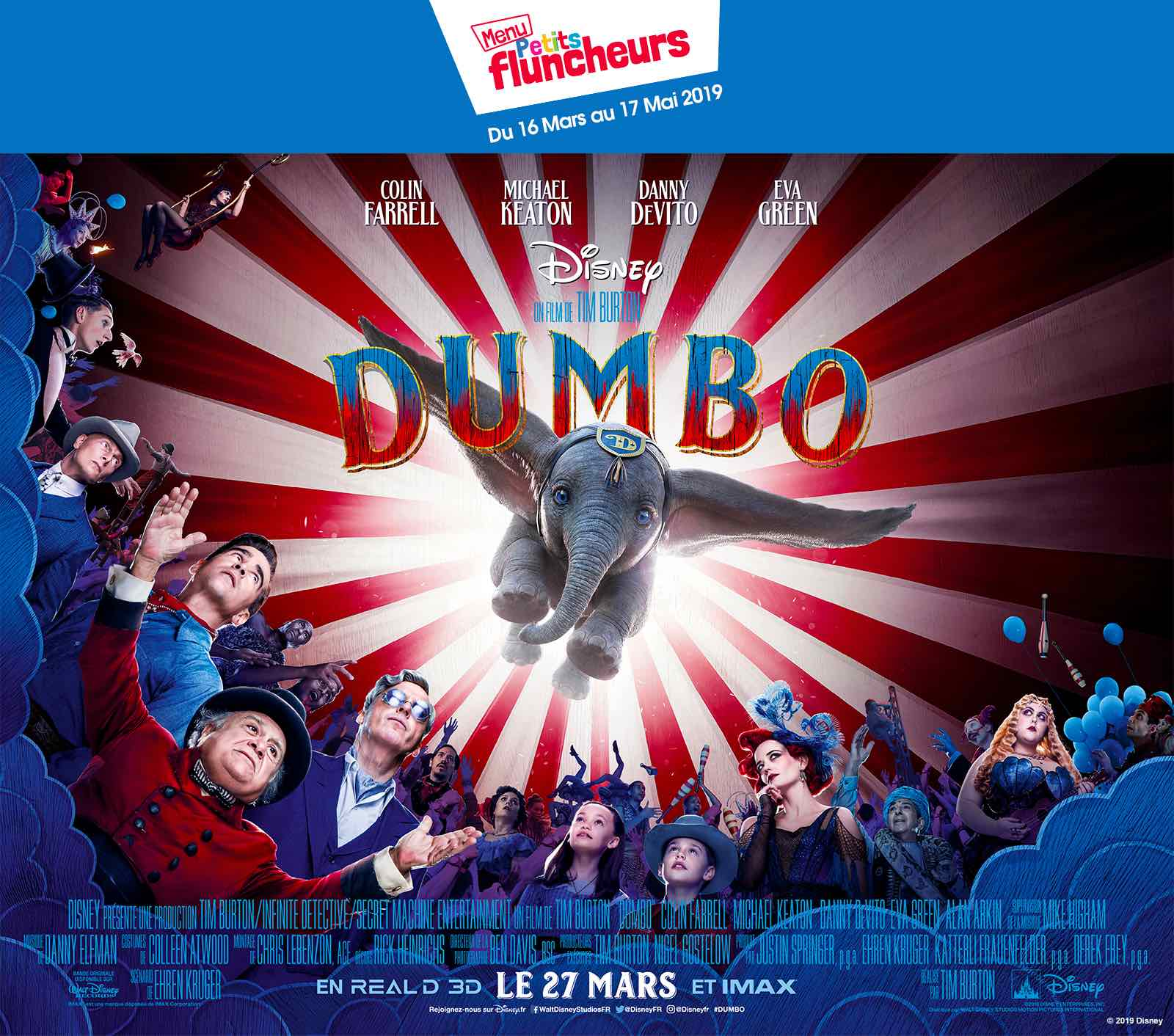 dumbo menu enfants
