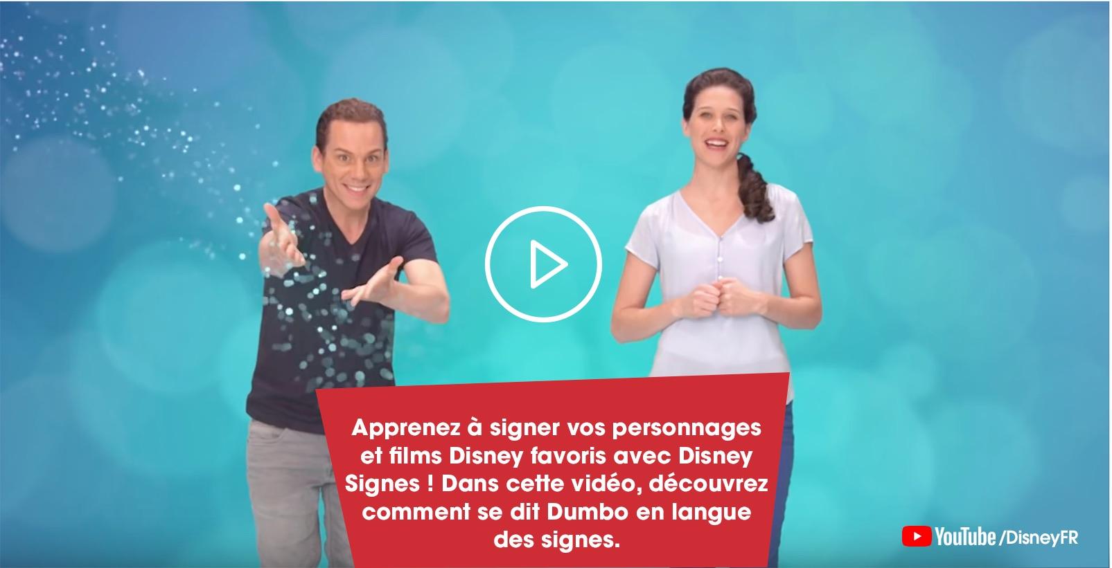 Apprends à dire dumbo en langage des signes