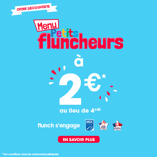 menu enfants flunch 2 euros