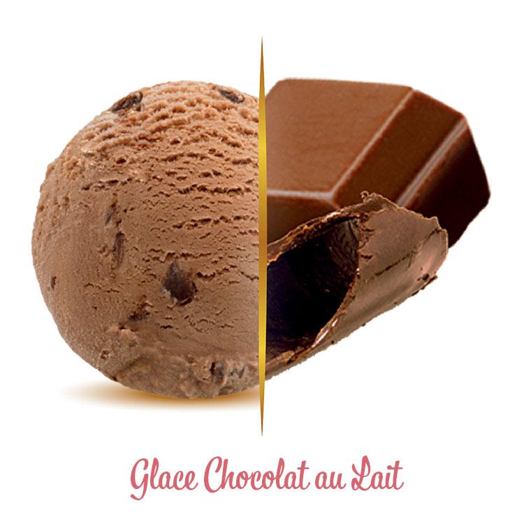 Glace chocolat au lait
