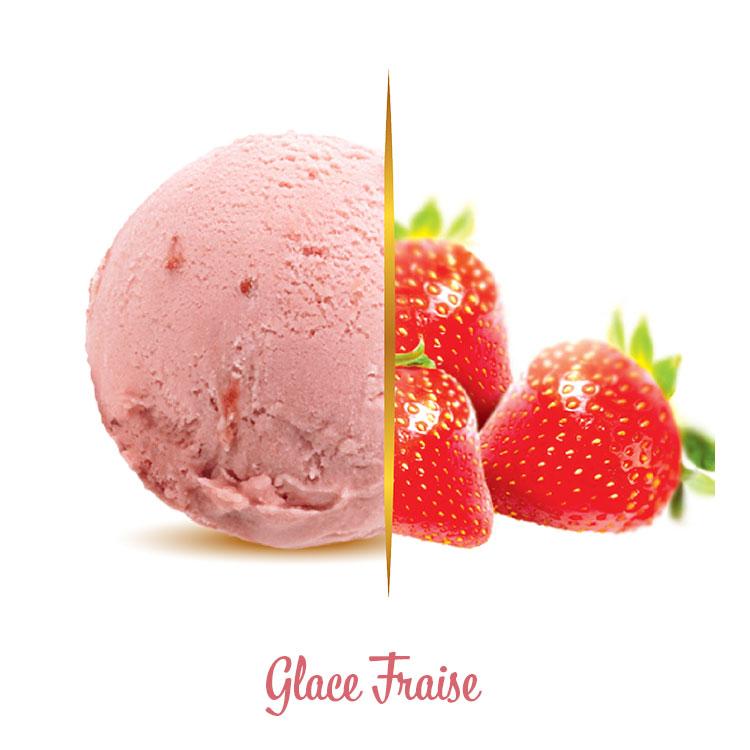 Glace fraise