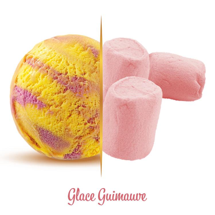 Glace guimauve