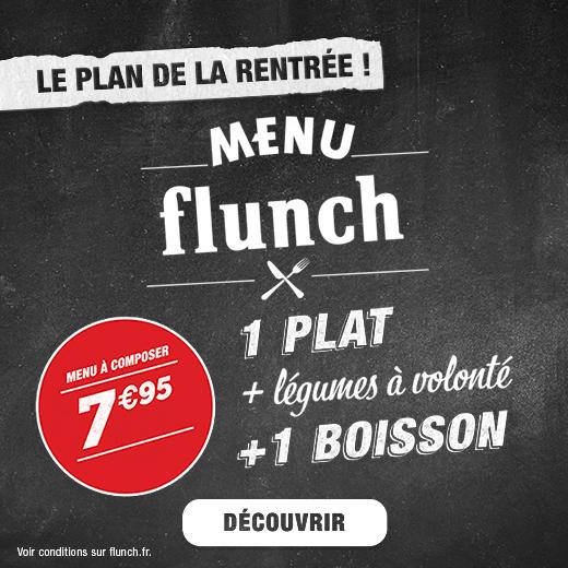 Restaurants flunch : la carte et les actus des restaurants