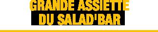 Nouveau menu flunch assiette salad bar