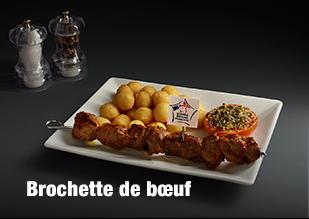 Brochette de boeuf viande bovine française