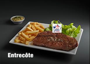 Entrecôte viande bovine française