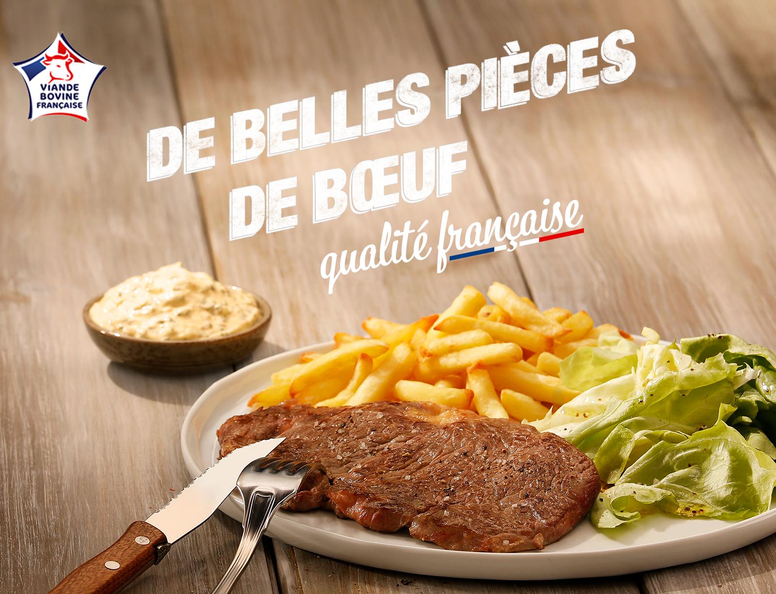 Pièce de boeuf viande bovine française