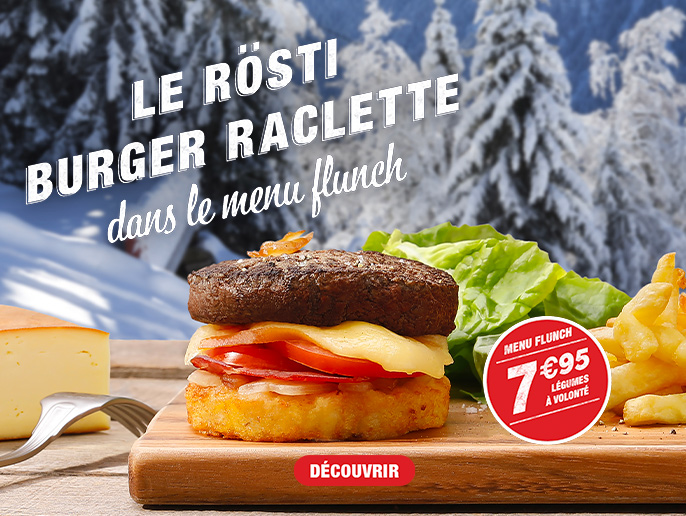 menu flunch le rösti burger raclette