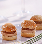 Traiteur mini hamburger flunch